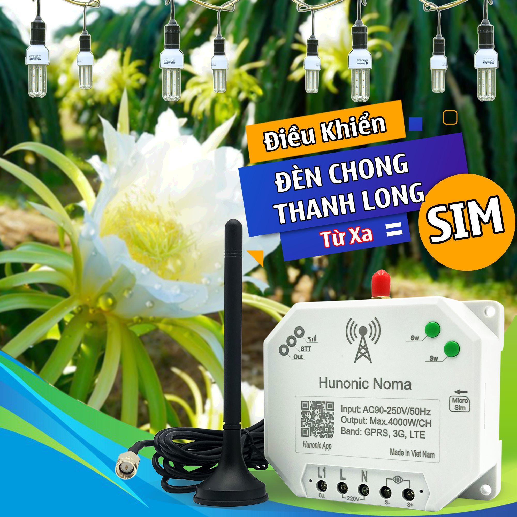 Công tắc thông minh Hunonic Noma Điều khiển mọi thiết bị từ xa qua điện thoại dùng sim- Hàng Việt Nam Chất Lượng Cao 5