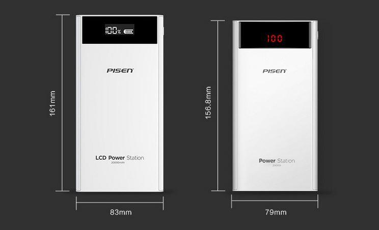 Sạc Dự Phòng Pinsheng (PISEN) LCD Library 20000mAh