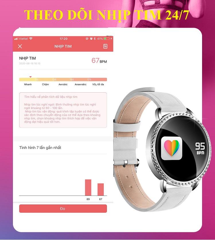 Đồng hồ theo dõi sức khỏe H7 (chống nước IP67) 6