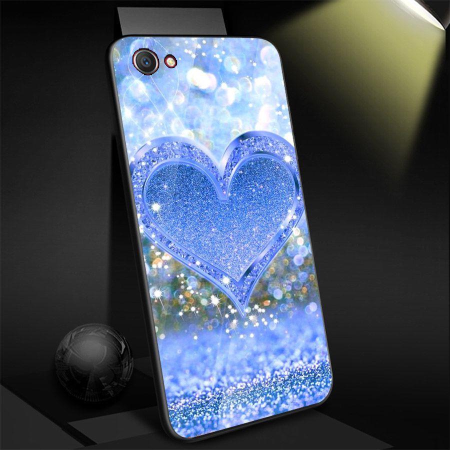 Ốp điện thoại kính cường lực cho máy Oppo F5 - trái tim tình yêu MS LOVE039