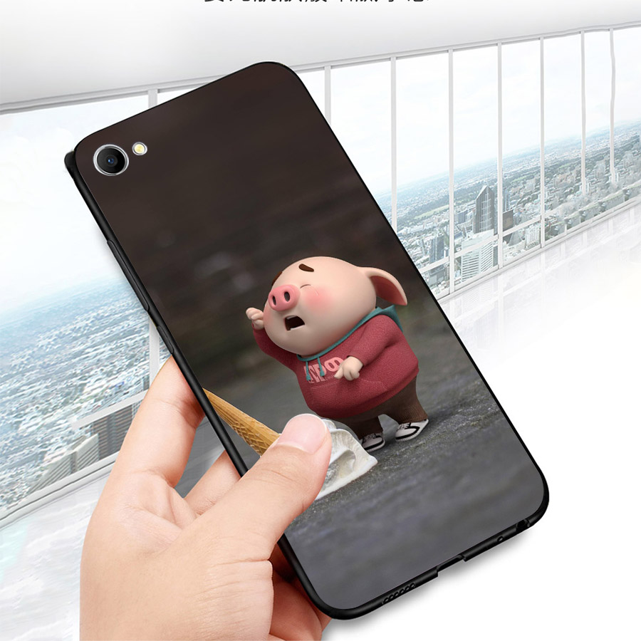 Ốp lưng cứng viền dẻo dành cho điện thoại Oppo F1S/A59 - Heo Dễ Thương MS HDTDD011