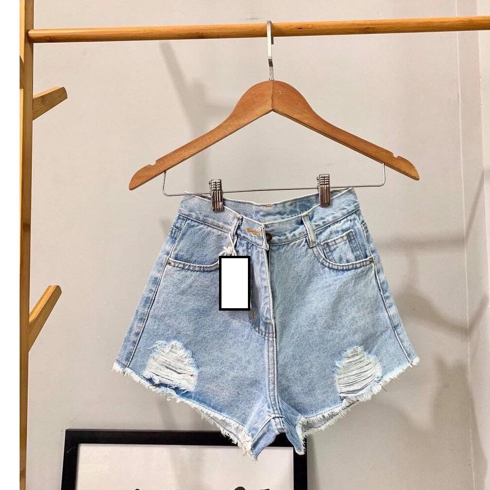Quần short nữ lưng cao Julido S20 chất jean, một màu, ba kích thước thời trang trẻ trung 1