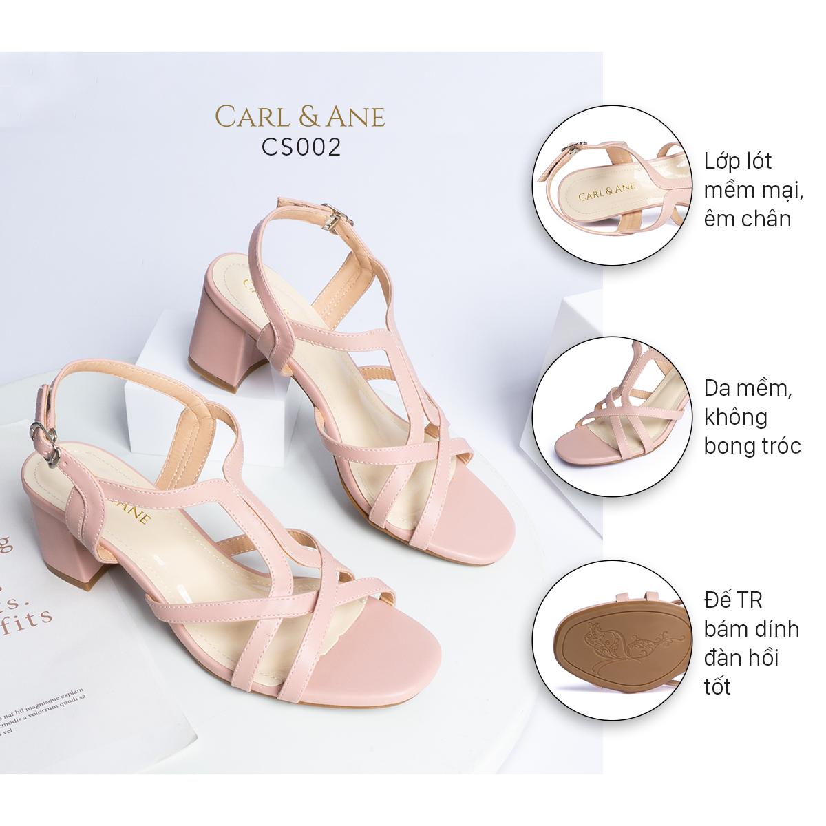 Gia y sandal phô i dây thời trang Erosska mu i vuông gót cao 5cm CS002 1