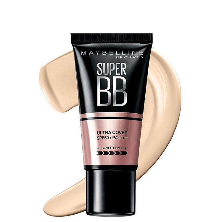 Kem Nền Maybelline Super BB Ultra Cream Cover SPF50 PA++++ 30ml Trang Điểm Hoàn Hảo PM711 10