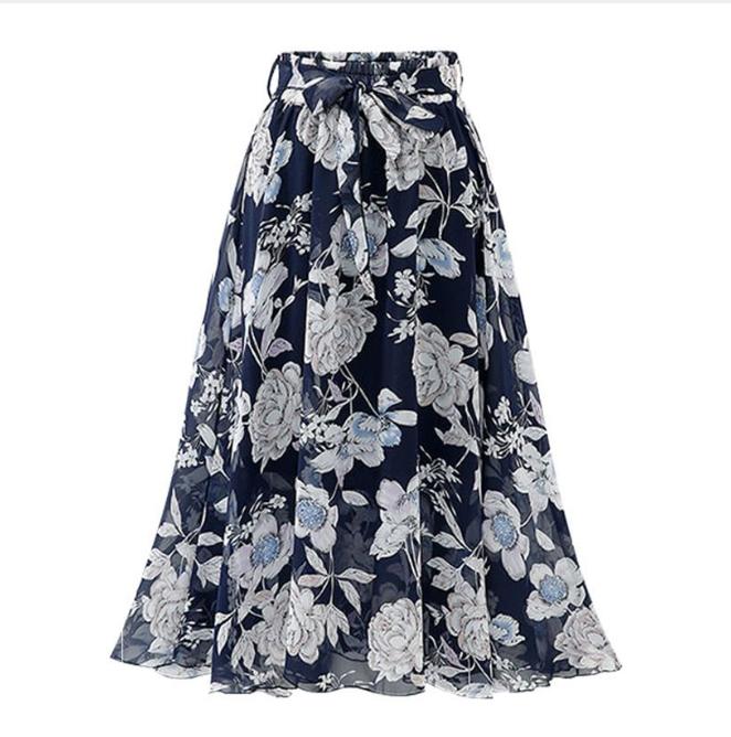 Chân váy voan mềm tung bay phong cách Vintage Châu Âu VAY66 free size 9