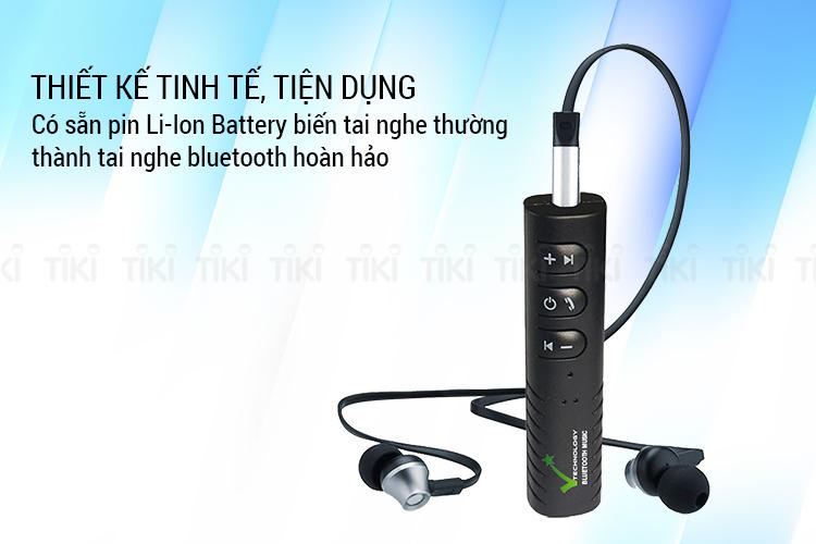 Thiết Bị Chuyển Đổi Âm Thanh Có Dây Thành Không Dây VietTech Bluetooth Music V4.1 (Đen) - Hàng Chính Hãng
