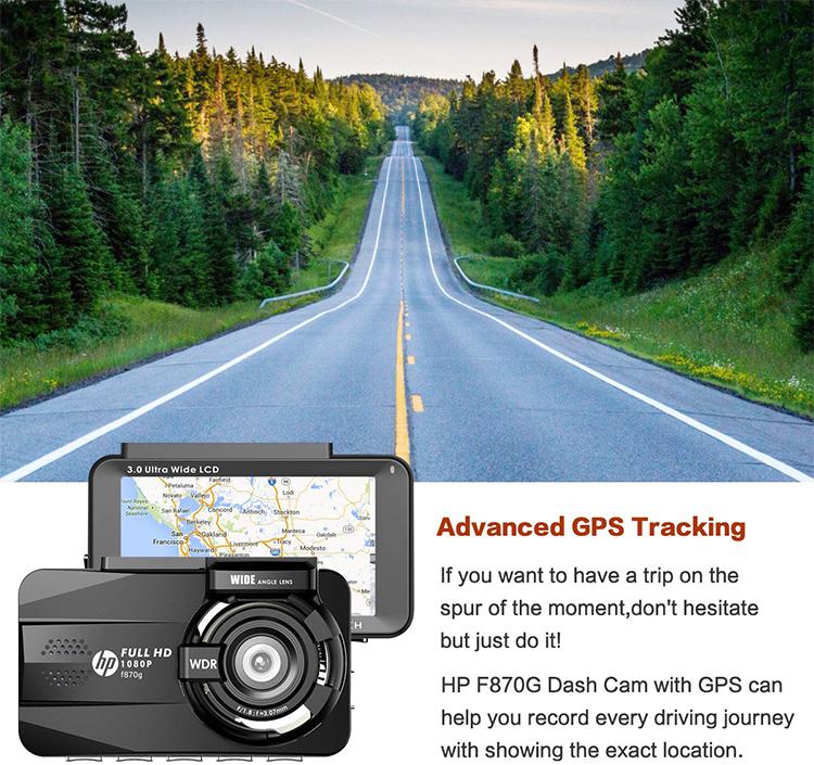 Camera Hành Trình HP F870G DuAL Tích Hợp Cam Lùi - Hàng Nhập Khẩu