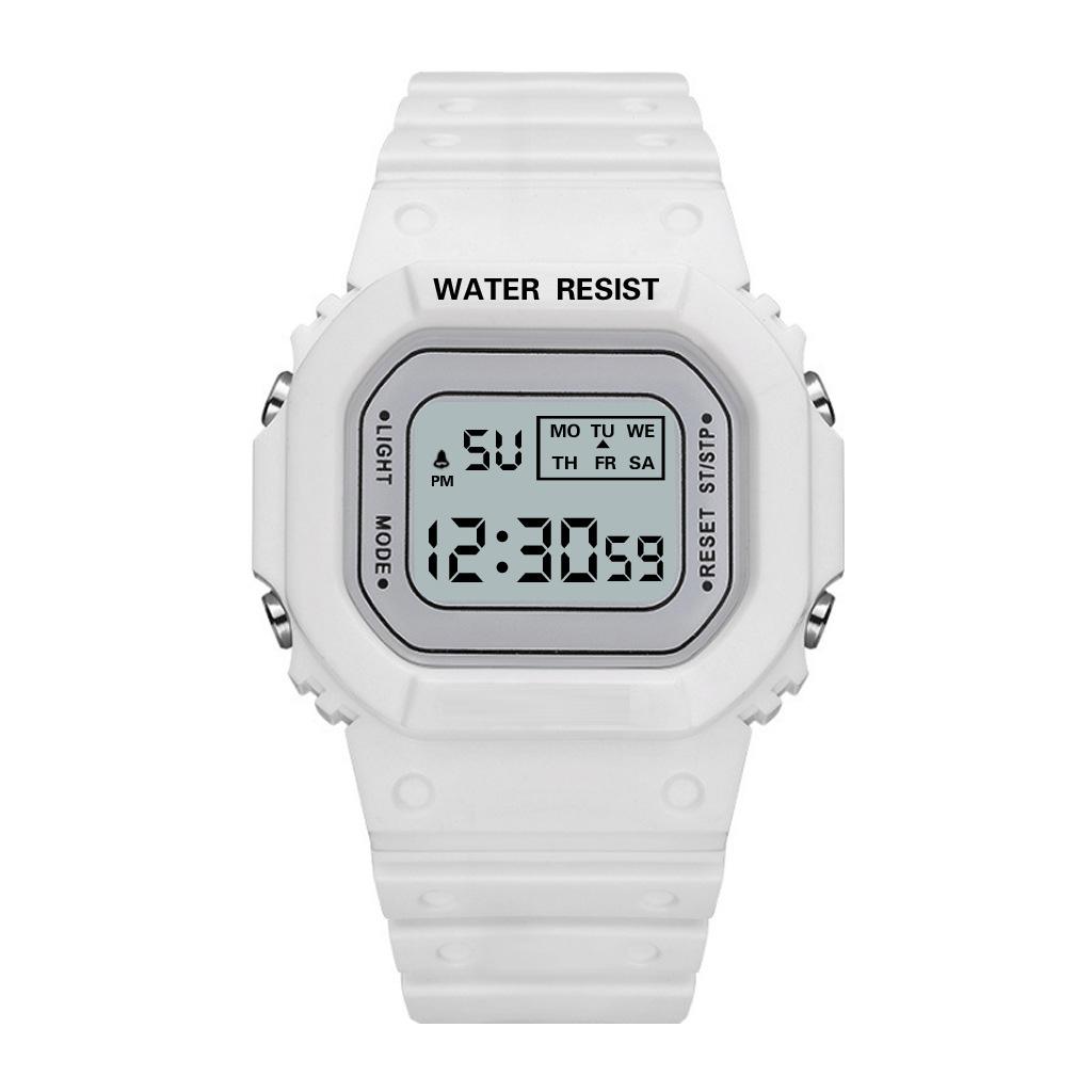 Đồng Hồ NỮ điện tử KASAWI Mặt Vuông K01222 Sports - xem giờ điện tử - báo thức - bấm giờ thể thao - xem lịch ngày tháng thứ - Dây Silicone Bền Chắc 5