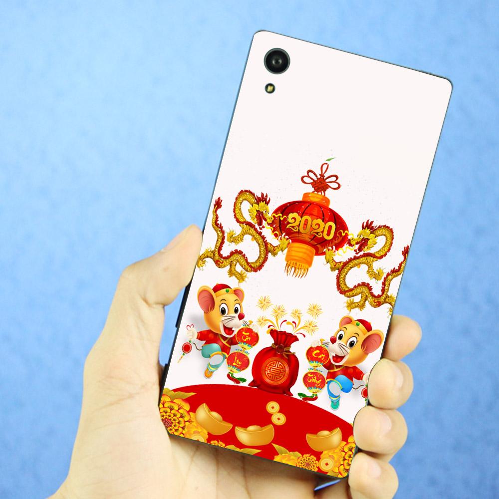 Ốp lưng cứng viền dẻo dành cho điện thoại Sony Xperia Z3 - Chuột chúc tết mã 18 MS CCTM18