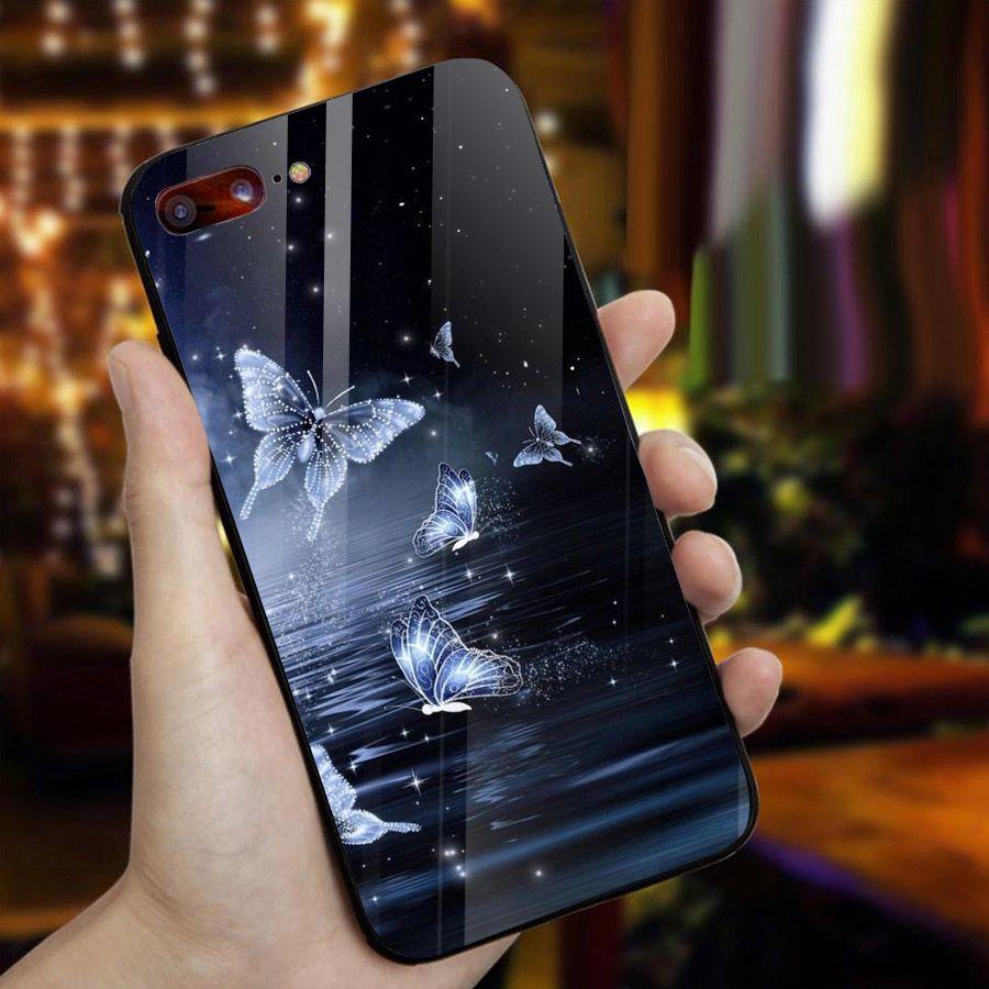 Ốp điện thoại kính cường lực cho máy iPhone 7 Plus / 8 Plus - bướm đẹp MS BUOMD033