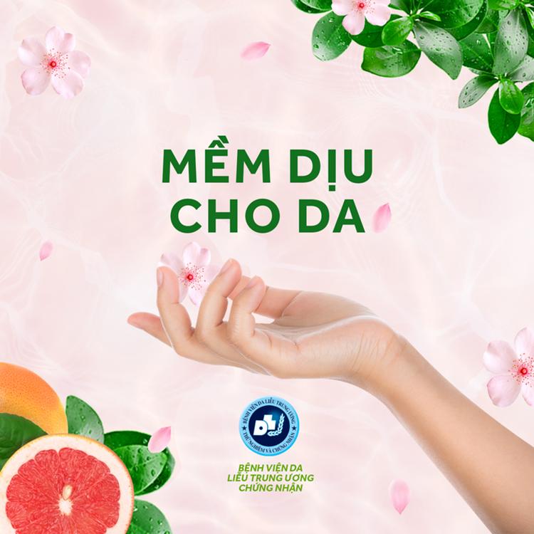 Nước Rửa Chén Sunlight Mềm Dịu Hương Bưởi Tây & Hoa Anh Đào Chai 3.6kg