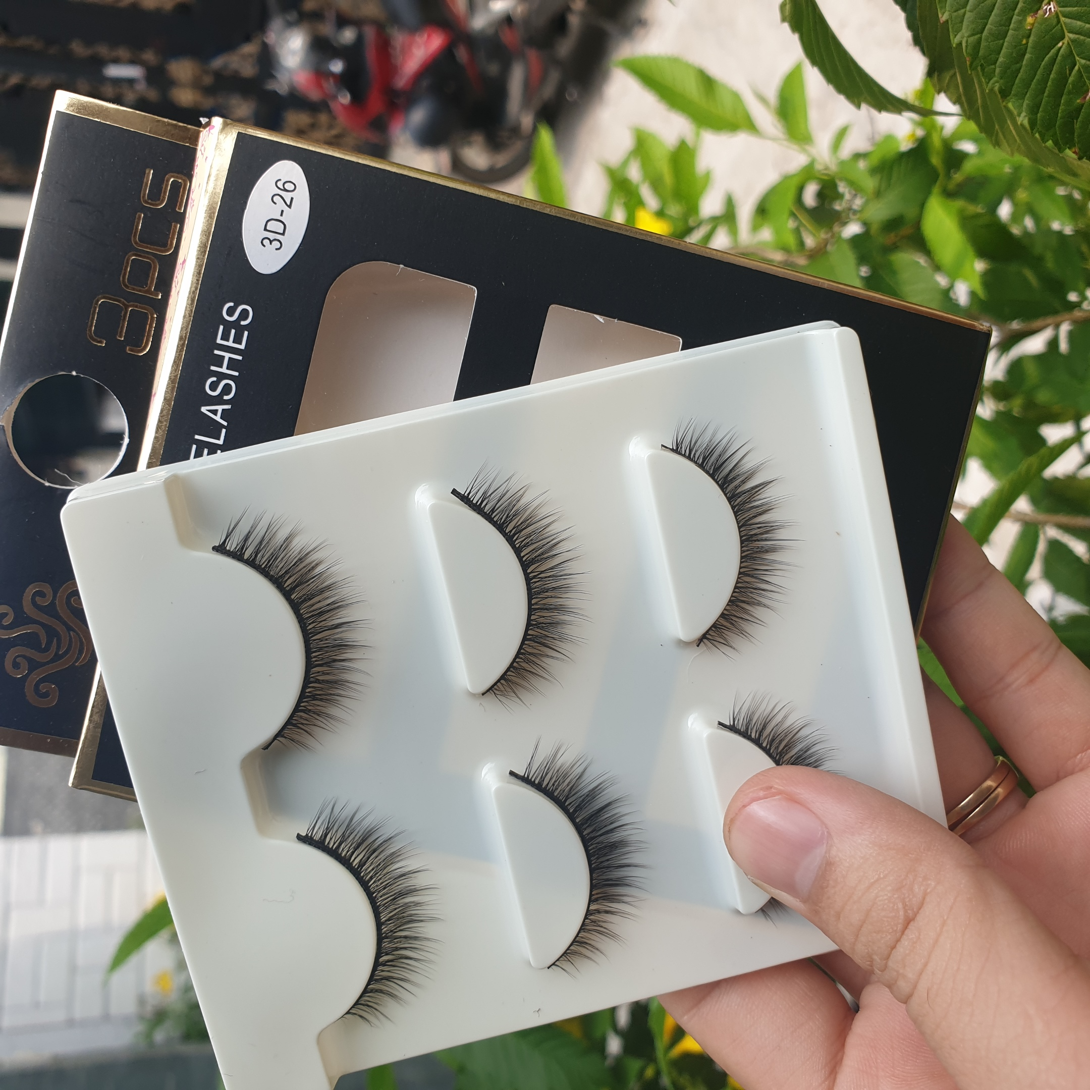 Lông mi giả lông chồn 3 Fashion Eyelashes 3 Faux-Cils 3D 1 bộ 3 cặp 104