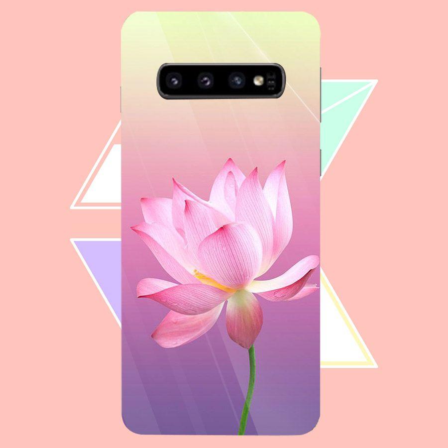 Ốp điện thoại kính cường lực cho máy Samsung Galaxy S10 Plus - Đủ nắng thì hoa nở MS DNTHN005