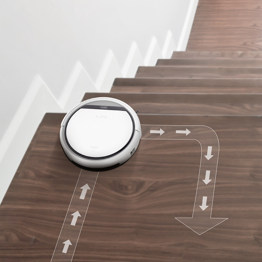 Robot hút bụi thông minh tự động chống rơi