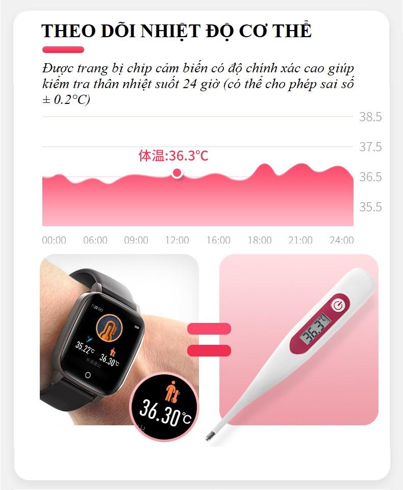 Đồng hồ theo dõi sức khỏe đa năng T_1_Q - Đồng hồ thông minh 6