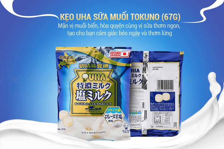 Kẹo UHA Sữa Muối CORORO (67g)