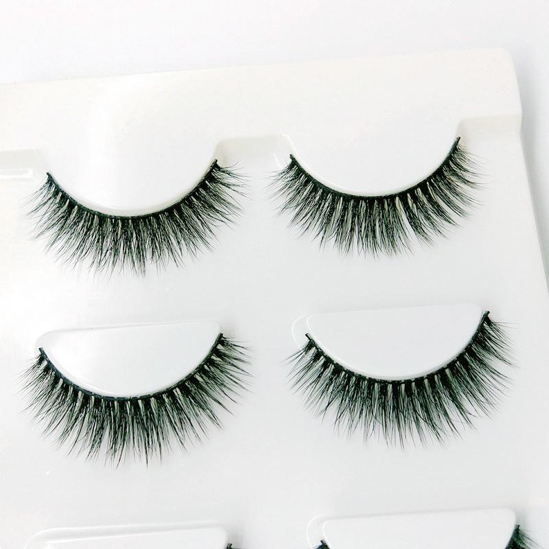 Lông mi giả lông chồn 3 Fashion Eyelashes 3 Faux-Cils 3D 1 bộ 3 cặp 87