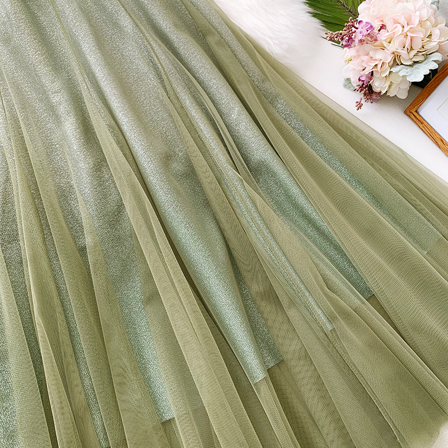 Váy xòe lưới tutu loang mầu lấp lánh VAY53 8