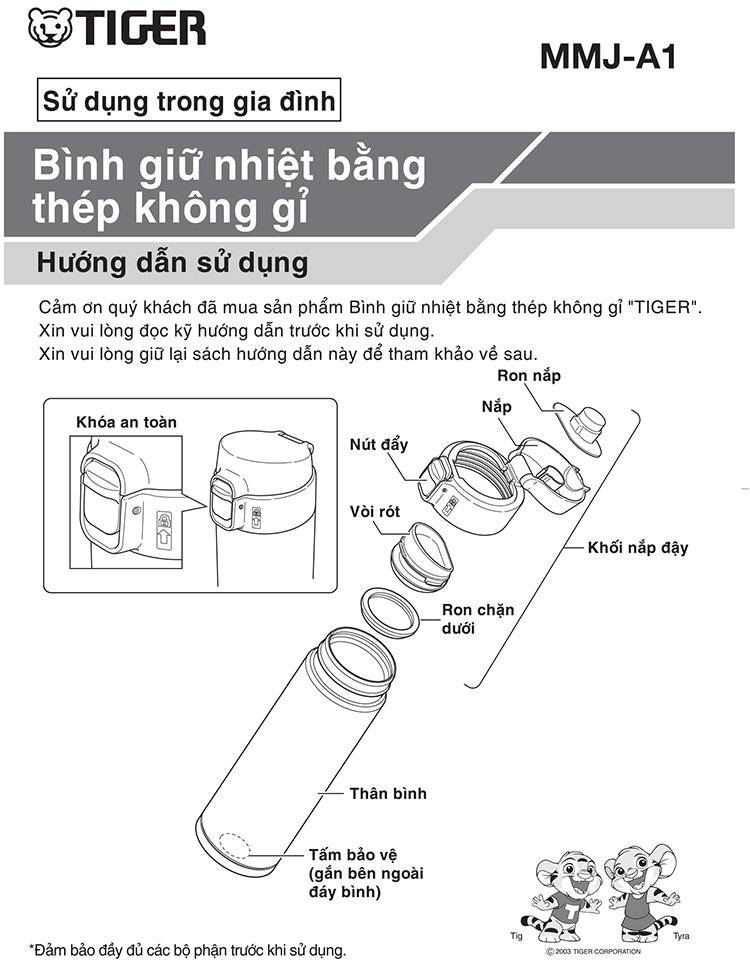 Bình giữ nhiệt Tiger MMJ-A361 (360ml)
