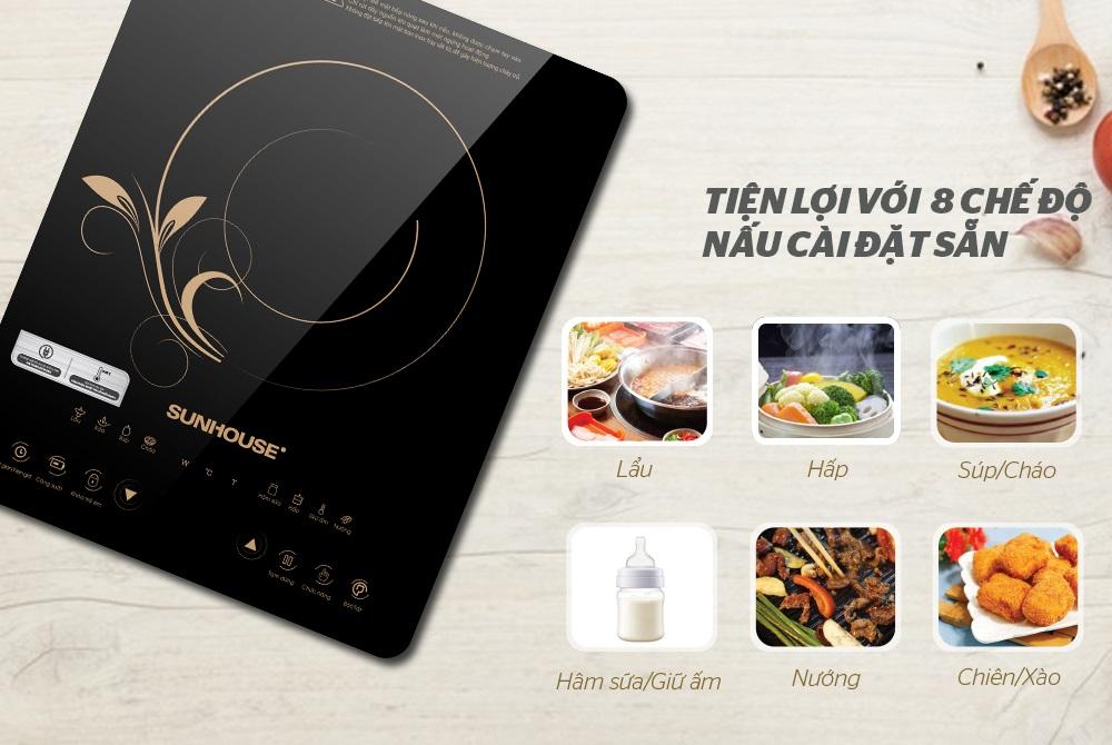 Bếp Điện Từ Cảm Ứng SUNHOUSE SHD6801 (310 x 165 x 395 mm) - Hàng Chính Hãng