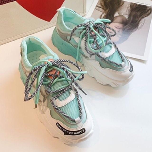 Giày thể thao nữ đế phối 1 2 màu cực chất 9