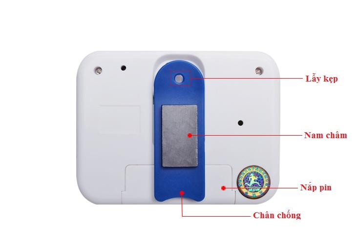 Đồng hồ đếm ngược 4 kênh, dùng pin cúc áo tặng kèm đèn 4 led dán tường , dán ô tô 6