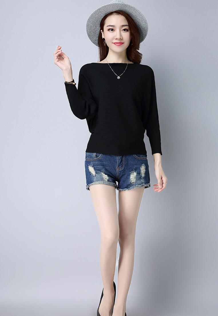 Áo len nữ cánh dơi thời trang Hàn Quốc 5