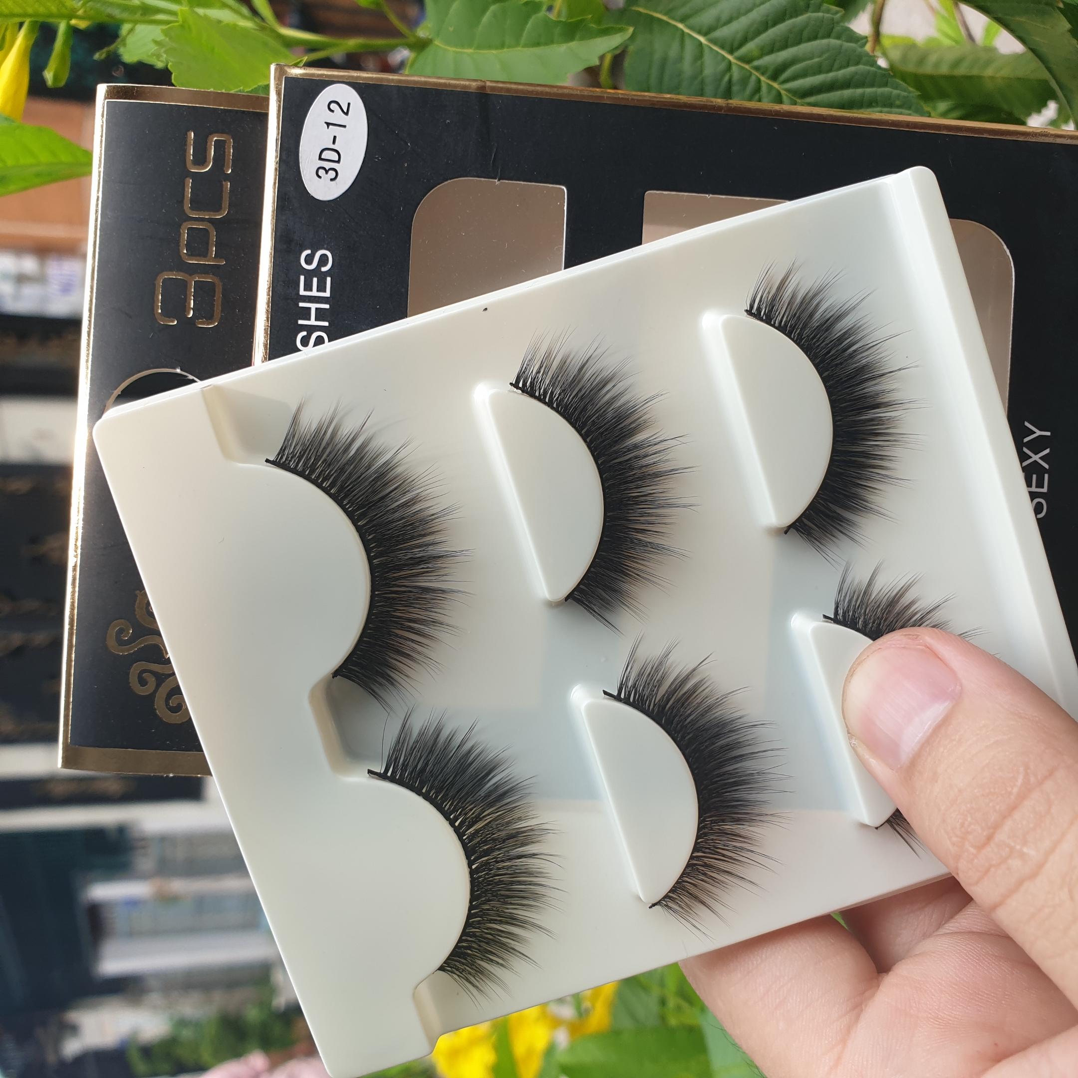 Lông mi giả lông chồn 3 Fashion Eyelashes 3 Faux-Cils 3D 1 bộ 3 cặp 48