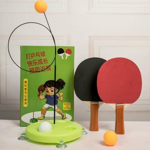 Bộ bóng bàn luyện tập phản xạ vợt cán gỗ cho bé vui chơi mọi lúc mọi nơi 1