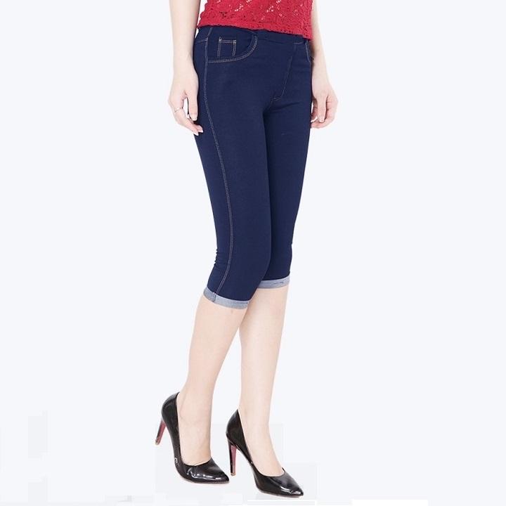 Quần Legging lửng thun giả Jeans cao cấp 1