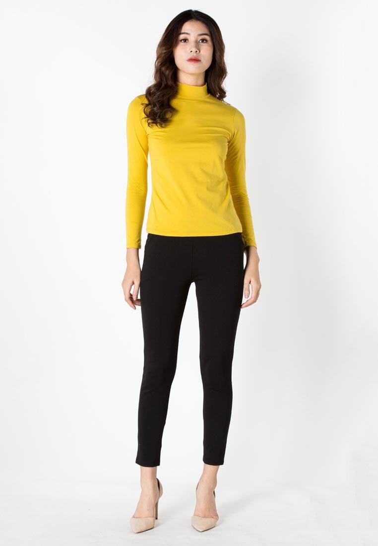 Bộ 5 Quần Legging Vicci dáng dài nâng mông màu Đen 1