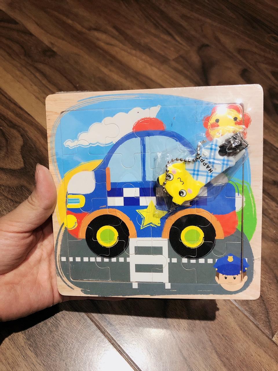 Combo Tranh ghép hình 16 miếng bằng gỗ cho bé tặng kèm bấm móng tay hình thú siêu dễ thương và tiện dụng 12
