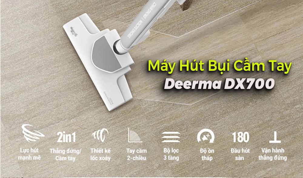 Máy Hút Bụi Cầm Tay Xiaomi Deerma-Deerma Vacuum Cleaner DX700 - Hàng Chính Hãng