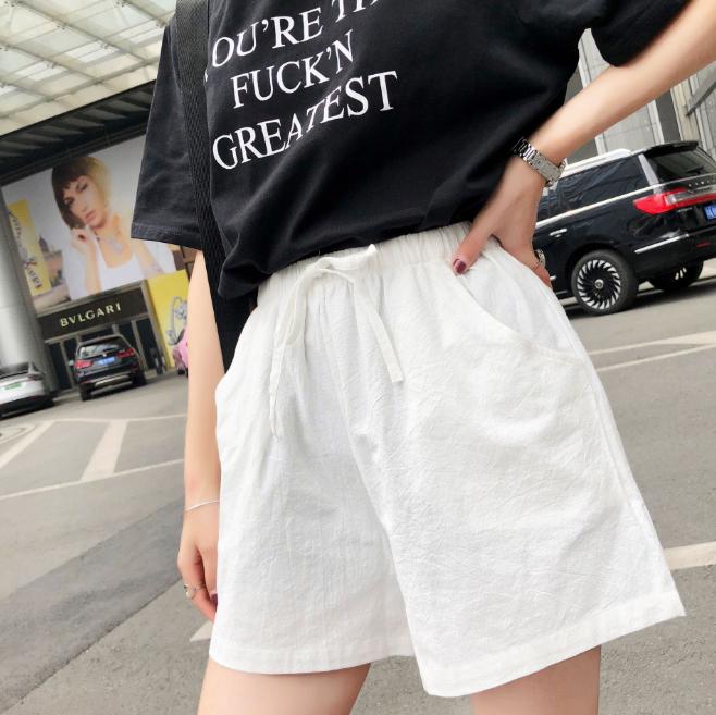 Quần đùi short nữ vải đũi thời trang mát mẻ mùa hè QĐ06 5
