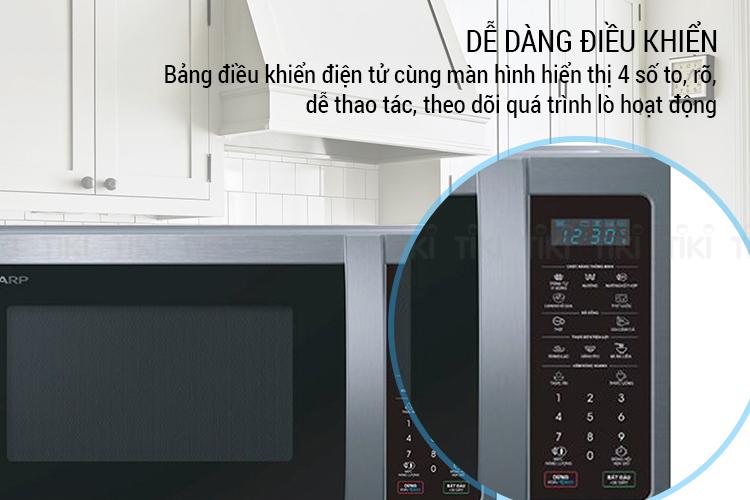 Lò Vi Sóng Điện Tử Có Nướng Sharp R-G32XVN-ST (23 Lít) - Hàng Chính Hãng