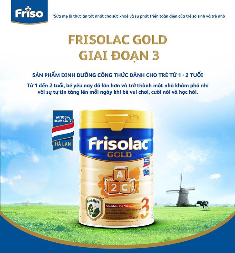 Sữa Bột Friso Gold 3 400g