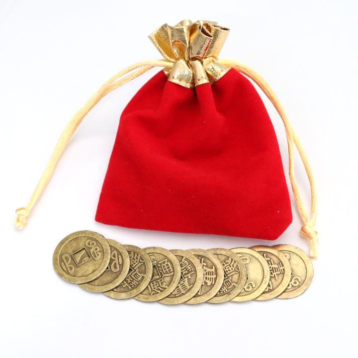 Tiền xu ngũ đế, tiền xu phong thuỷ bỏ bóp ví - THM15 1