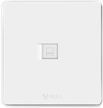 Ổ Cắm Điện Máy Tính Dán Tường BULL G18T102 Trắng