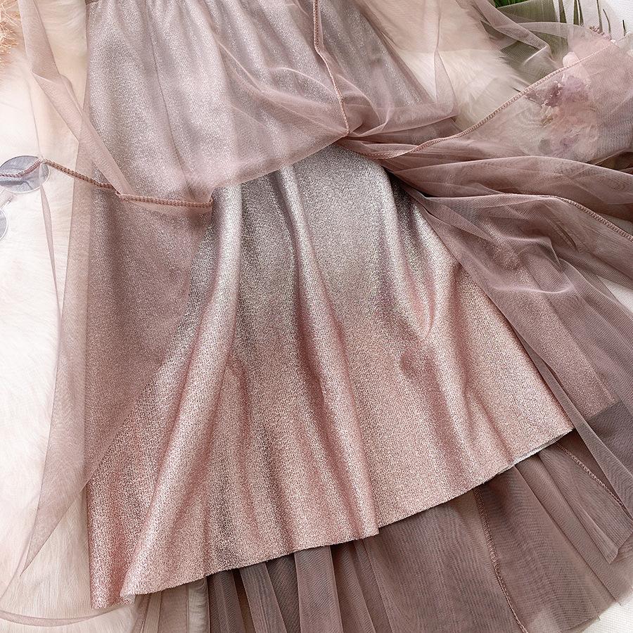 Váy xòe lưới tutu loang mầu lấp lánh VAY53 18