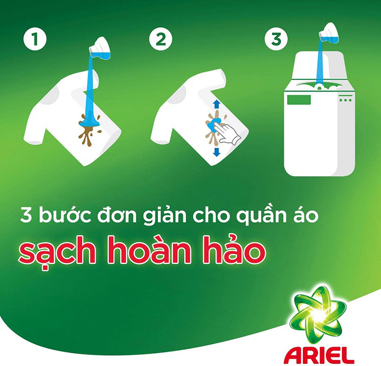 Nước Giặt Ariel Downy Dạng Chai (2.4Kg)