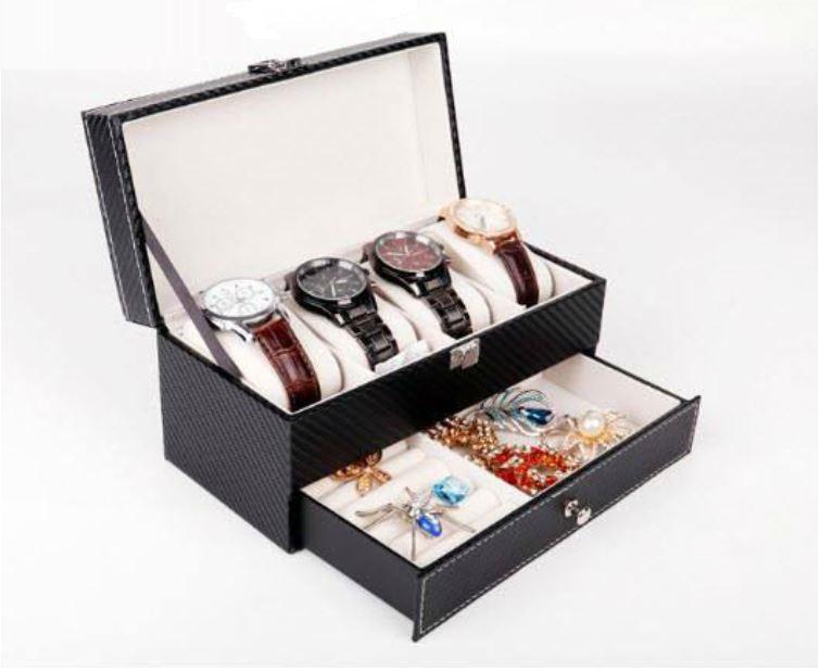 Hộp đựng đồng hồ 4 chiếc và trang sức