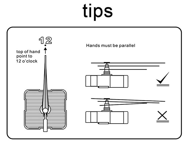 Quartz Wall Clock Movement Mechanism DIY Repair Parts Kit White Long Shaft