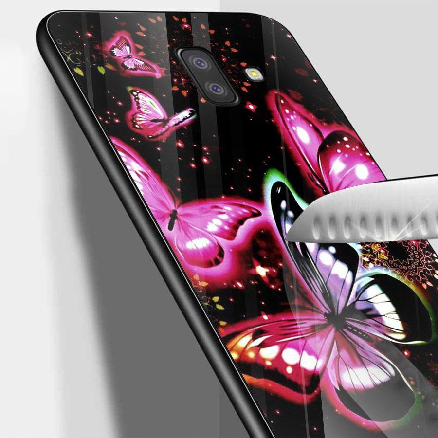 Ốp kính cường lực cho điện thoại Samsung Galaxy J4 - J6 - J6 PLUS - J6 PRIME - J8 - bướm đẹp MS ANH042