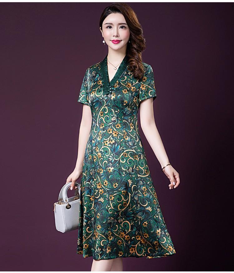 Đầm quý bà lụa Cao Cấp Sang Trọng - HATI DN9046 4
