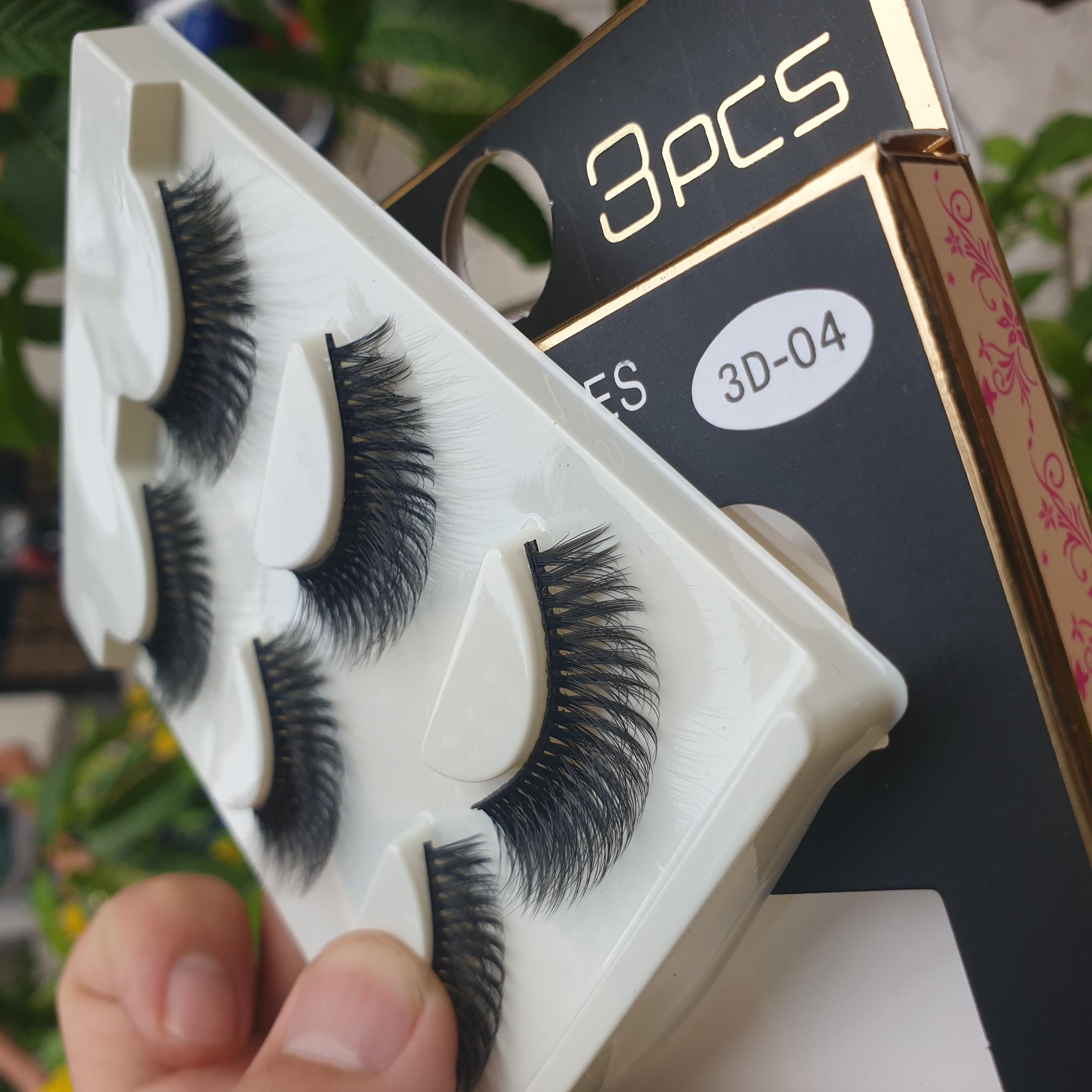 Lông mi giả lông chồn 3 Fashion Eyelashes 3 Faux-Cils 3D 1 bộ 3 cặp 18