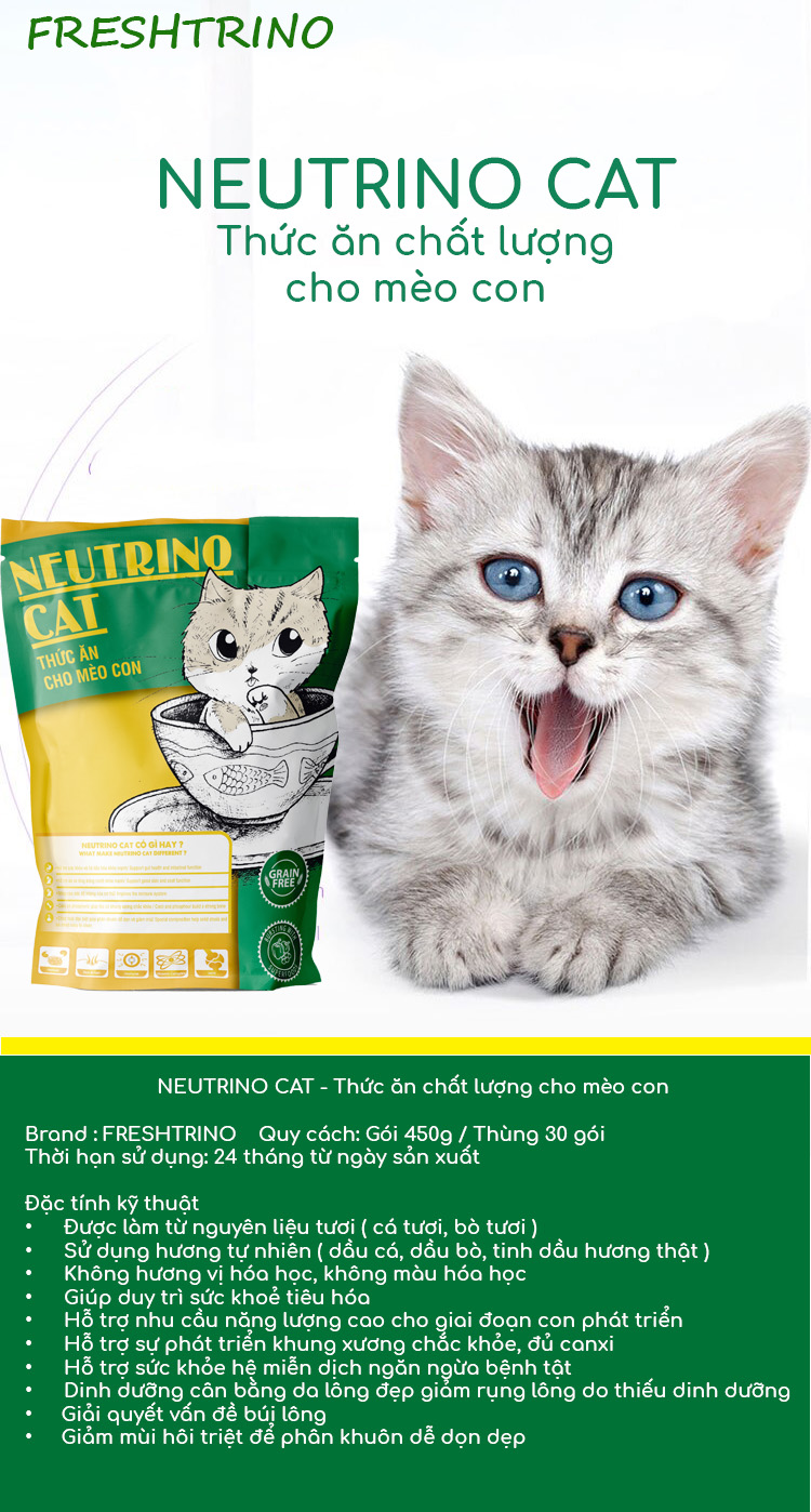 Thức ăn cho Mèo con Neutrino Cat 1