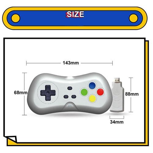 Máy Chơi Game 4K Điện Tử 4 Nút 638 Trò - Phiên Bản 2 Tay Cầm Chơi Game - Cắm Cổng HDMI - Kết Nối Không Dây (tặng chai dầu tràm hoa nén) Máy được giao theo màu ngẫu nhiên 1