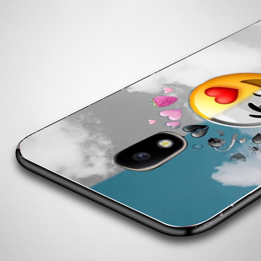 Ốp lưng cứng viền dẻo dành cho điện thoại Samsung Galaxy A7 2015 - emoji kute MS EMJKT021