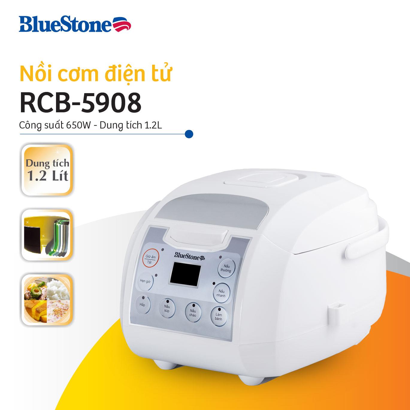 Nồi Cơm Điện Tử Bluestone RCB-5908 (1.2L)