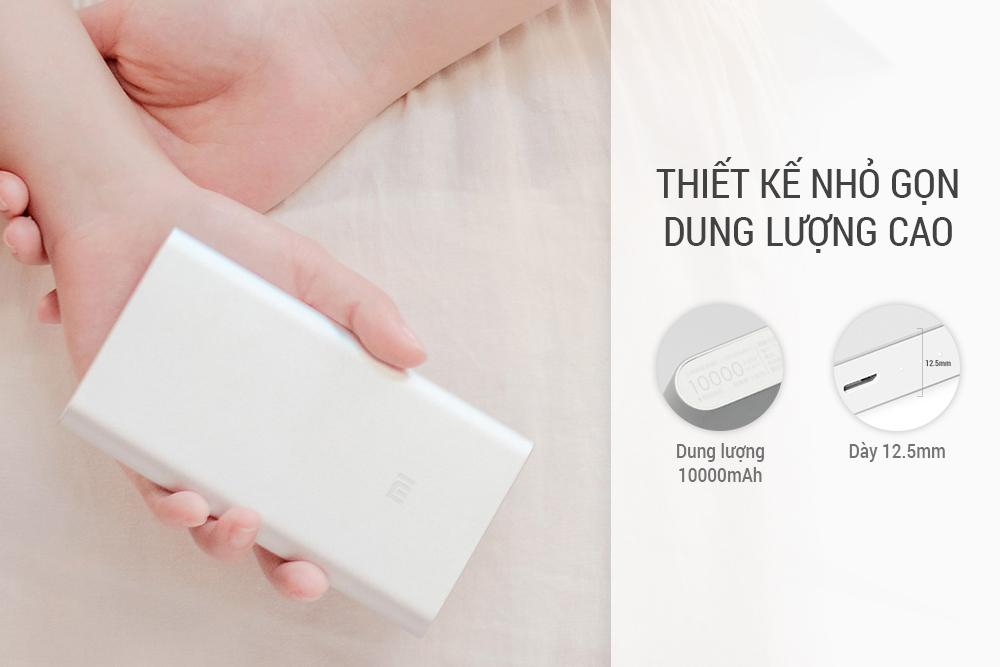 Pin Sạc Dự Phòng Xiaomi Gen 2 10000mAh - Hàng Nhập Khẩu